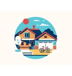 House icon isolated flat vector