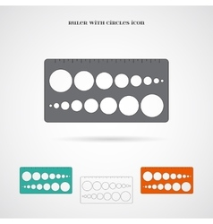 Ruler with circles icon vector