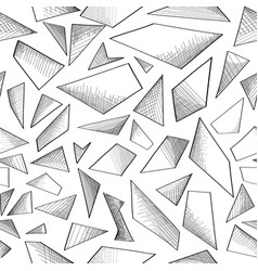 Abstract geometric foam seamless doodle pattern vector