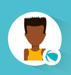 avatar icon beach vector image vector image