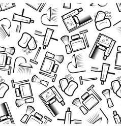 Bathroom and hygiene accessories seamless pattern vector