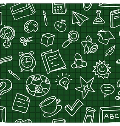 Bright seamless pattern with education and school vector image