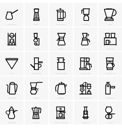 Coffee maker icons vector image