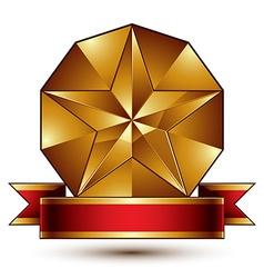 Complicated golden design element with pentagonal vector