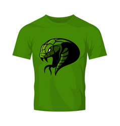 Furious green snake head sport logo concept vector