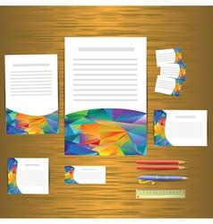 Geometric banner design template vector