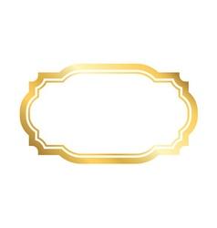 Gold frame simple golden white style vector