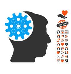 head gear icon with dating bonus vector image