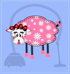 image of a sheep vector image