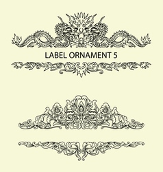 Label ornament 5 vector