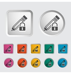 Lock for editing vector image vector image