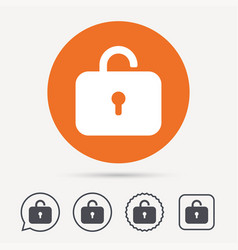 lock icon privacy locker sign vector image