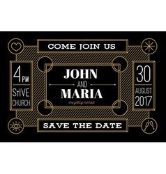 Modern Wedding Invitation vector image