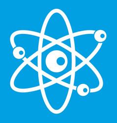 molecules of atom icon white vector image