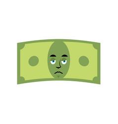 money sad emotion cash emoji sorry dollar isolated vector image