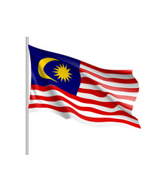 national flag of malaysia vector image vector image