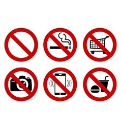 No signs vector image