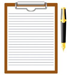 Pen and clipboard vector