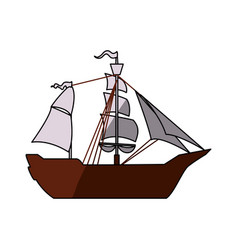 pirate boat ship vector image