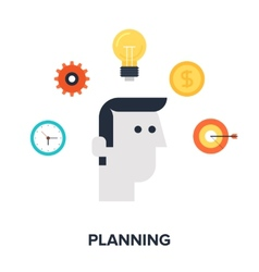 Planning vector image vector image