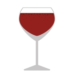 silhouette colorful with wine glass vector image vector image