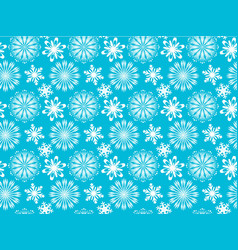Snowflakes seamless texture vector