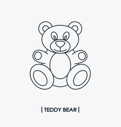Teddy bear outline icon vector