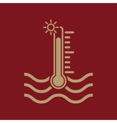 The warm water temperature icon hot liquid symbol vector