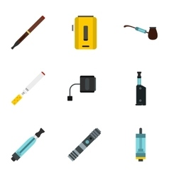 Tobacco icons set flat style vector