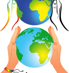 world equality vector image