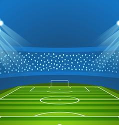 Light stadium mast Stadium with green footb vector image