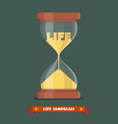 Life sandglass in flat style vector