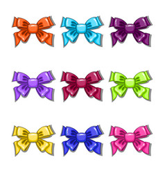 Set with cartoon colorful bows vector