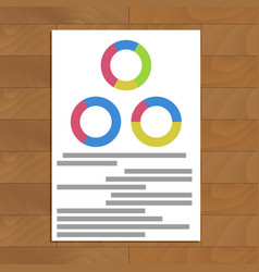 Document with round charts vector