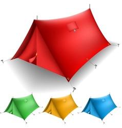 Tent set vector image