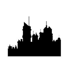 Silhouette building urban skyscraper antenna vector