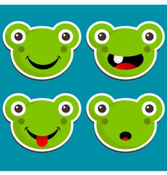 Cute Frog Stickers vector image