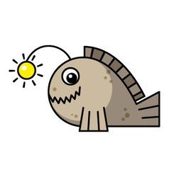 Cartoon frogfish vector image