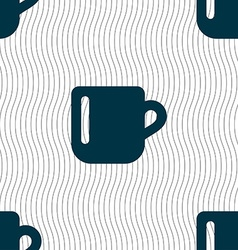 Cup coffee or tea icon sign seamless pattern with vector
