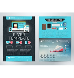Business Flyer Template for Business Purpose vector image