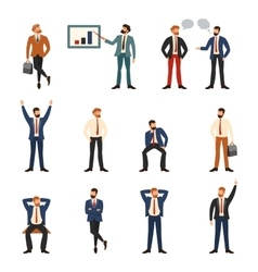 Group of business and office people vector