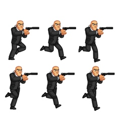 Body guard running animation sprite vector