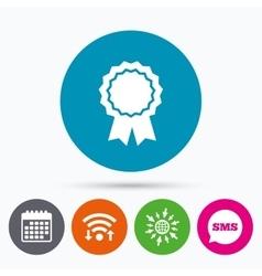 Award medal icon best guarantee symbol vector