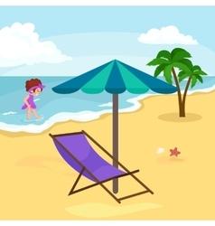 Children summer vacation Kids Playing sand around vector image
