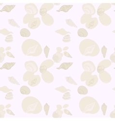 Beach seashell and sand seamless pattern vector