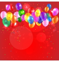 Festive background with color balloons vector