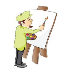 An artist at work vector