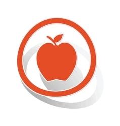 Apple sign sticker orange vector