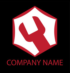 auto repair service logo vector image