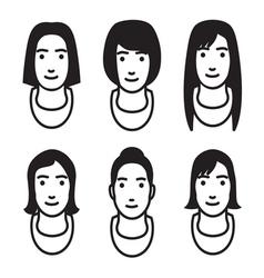 Avatar female1 vector image